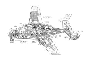 Miles M100 Student Cutaway Drawing