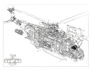 NH90 Cutaway Drawing