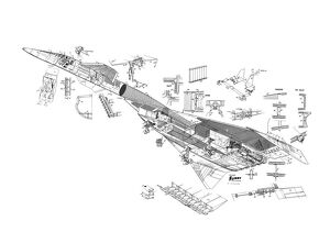 North American XB-70 Valkyrie Cutaway Drawing