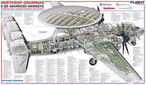 Northrop Grumman E-2D Advanced Hawkeye AEW Command and Control Cutaway Poster