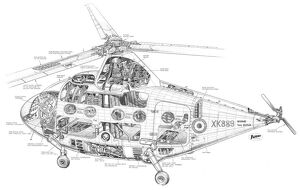 Percival P.74 Cutaway Drawing