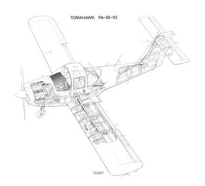 Piper Tomahawk PA-38-112 Cutaway Drawing