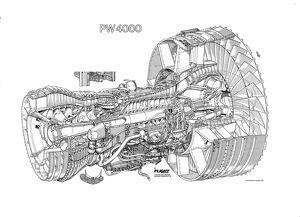 Pratt & Whitney PW4000 Cutaway Drawing