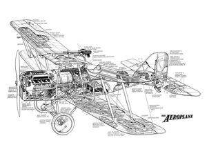 Royal Aircraft Factory SE5A Cutaway Drawing