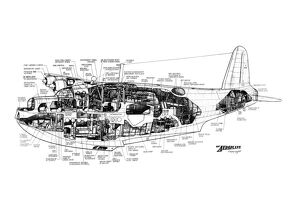 Short Sunderland Cutaway Drawing
