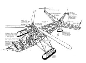 Sikorsky VS300 Cutaway Drawing