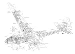 Slingsby Eagle T.42 Cutaway Drawing