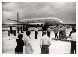 Static display of the De Havilland Comet