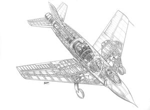 Vickers Supermarine 510 (swift) Cutaway Drawing