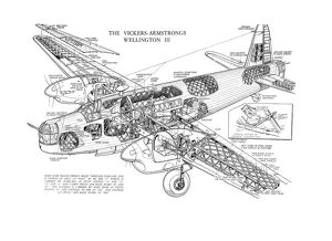 Vickers Wellington III Cutaway Drawing