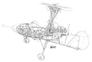 Wallis Auto-gyro Cutaway Drawing