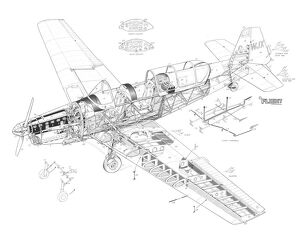 Zlin Trainer Cutaway Drawing