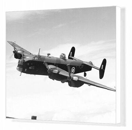 Handley Page, Halifax, HP, military, historical, bomber, action, a-a, 3/4, front, RAF, airforce, UK