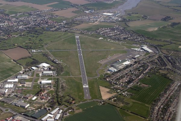 Aerial: Southend Airport from 3, 000 feet