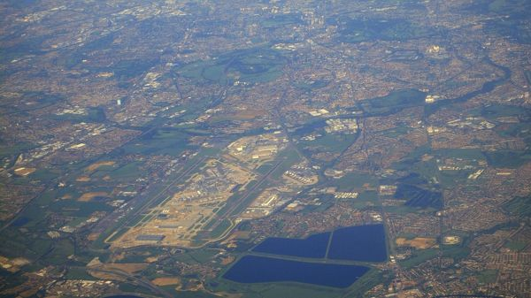 London Heathrow with new Terminal 5 Aerial View 2