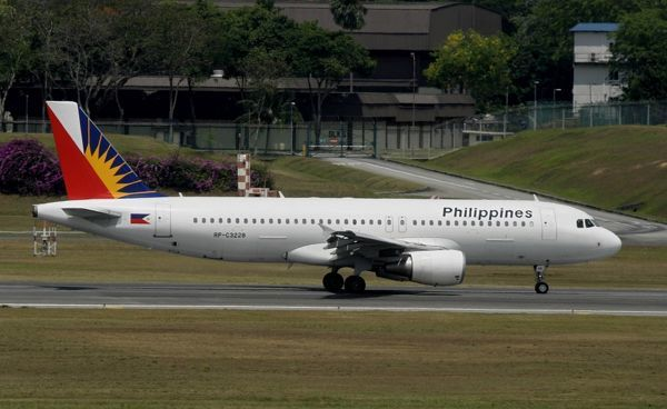 Airbus A320 Philippine Airlines at Changi Airport Singapore
