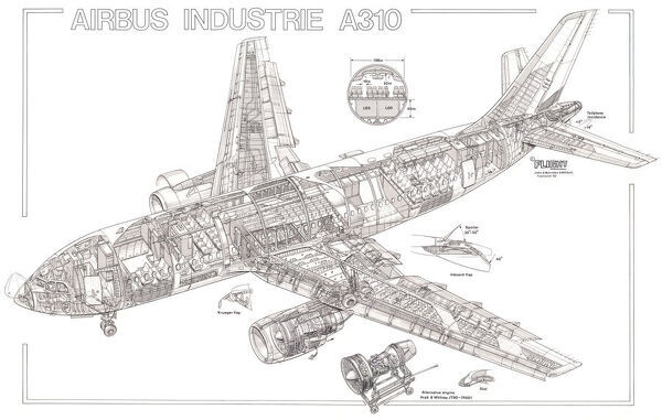 Airbus Industrie A310 Cutaway Drawing