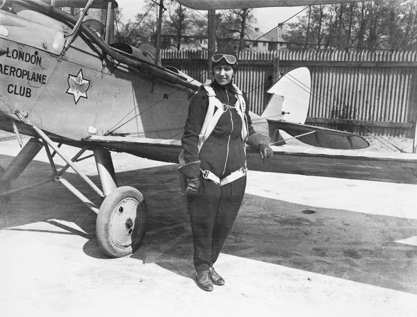 Amy Johnson with DH60