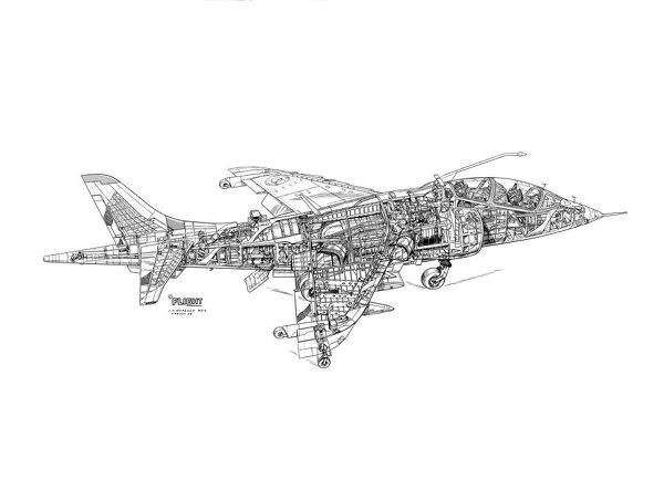 BAe Harrier T2 Cutaway Drawing