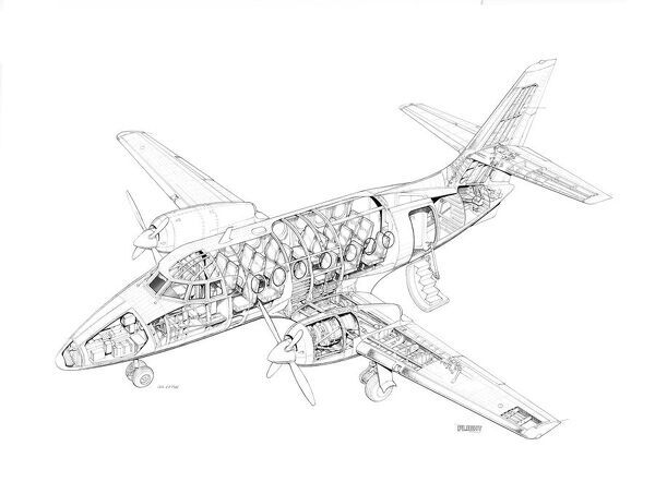 BAe Jetstream 31 Cutaway Drawing