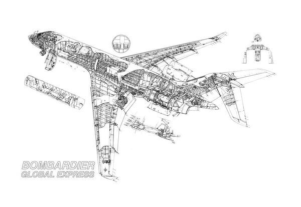 Bombardier Global Express Cutaway Drawing