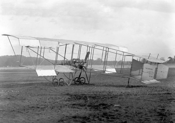The Bristol Boxkite is an improved version of a Henry Farman biplane, built in 1910 by the British & Colonial Aeroplane Co