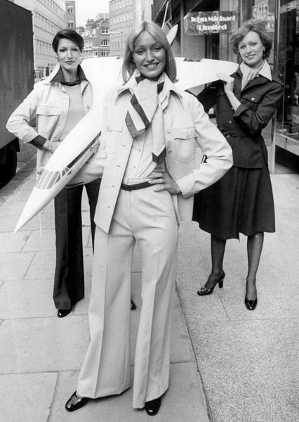The Concorde look for Stewardesses Publihsed January 14th 1976