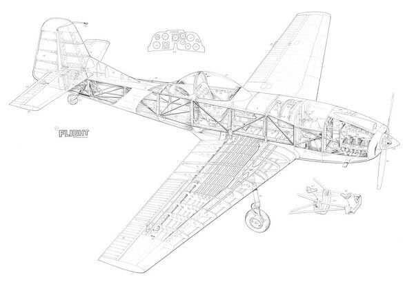 Cranfield A1 Chase Cutaway Drawing