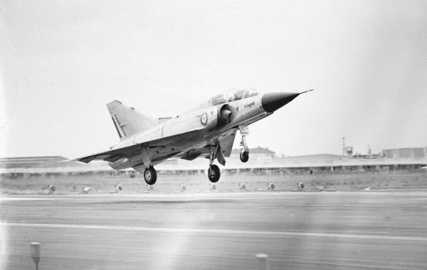 Dassault, Mirage, IIIB, Paris, Airshow, 1963, 1960s, Fighter, France, Europe, Historical, Military, 3/4, Front, G-A