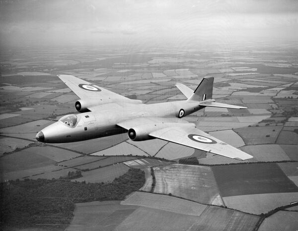EE Canberra PR9 (c) Flight The Flight Collection  Not to be reproduced without permission or payment of fee. Please note that there are some moir? circles in the original photograph, centred over the top of the rear tail