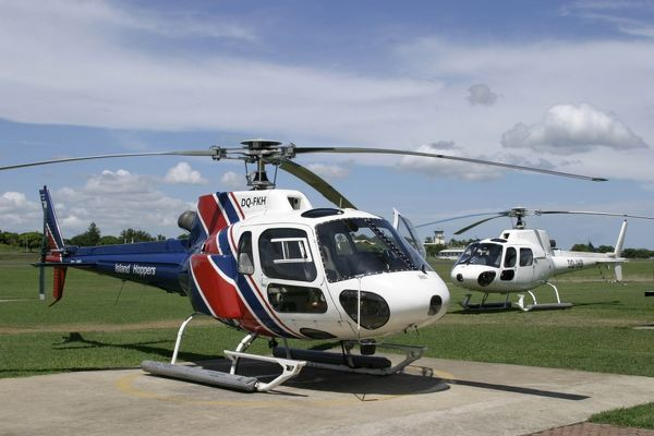 AS 350 B2 Ecureils Helicopters at Nadi used for sightseeing tours