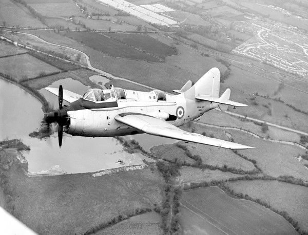 Fairey, Gannet, WN365, Royal Navy, RN, UK, White Waltham, 1957, 1950s, A-A, 3/4, Front, Historical, Military, ASW, Anti, Submarine, Warfare