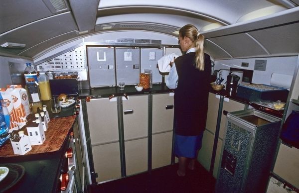 galley airplane seats galley for 1st class klm boeing 747 photo prints 252