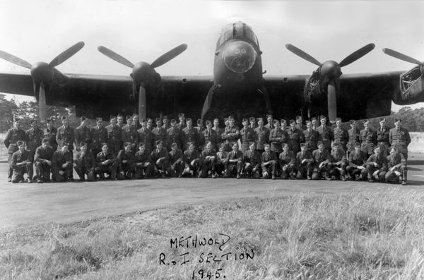 The ground support staff stationed at RAF Methwold, 1945