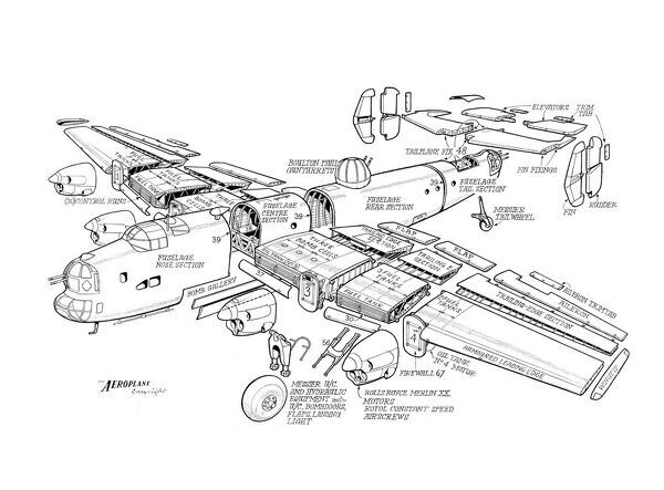 Handley Page Halifax II Cutaway Drawing