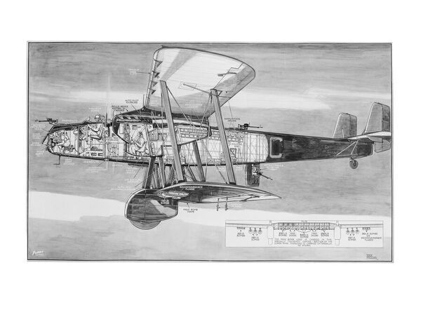 Handley Page Heyford Cutaway Drawing