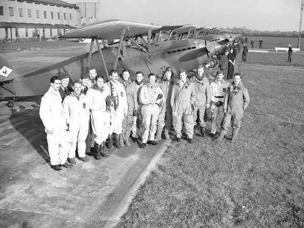 Hawker Fury & Crew RAF Tangmere 10/38 (c) The Flight Collection Not to be reproduced without permission