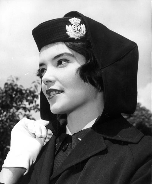 The new uniform and accessories that British European Airways Stewardesses and Traffic girls will be wearing