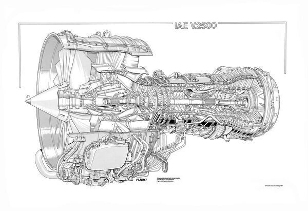 Iae V2500 Cutaway Drawing Photo Prints 1569813 From