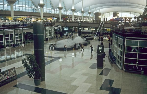 Interior of Denver Airport, USA