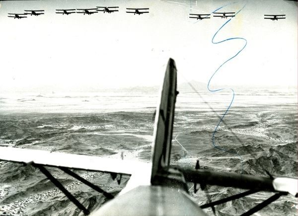 Italian Airforce planes over eritrea during the conquest of Abbyssinia (Ethipoia) 1936