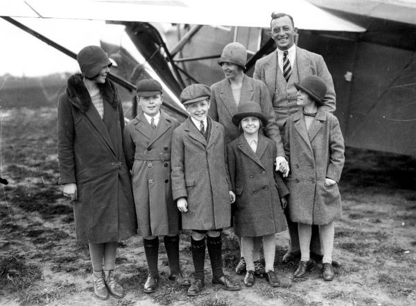 Lady Bailey and Family with Louis Paget Chief Test Pilot Of Westland