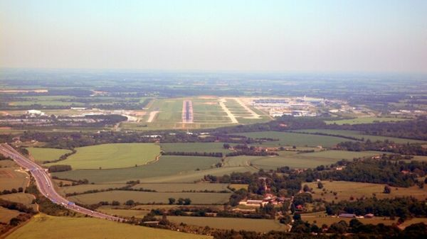 London Stansted View on Approach RW 23