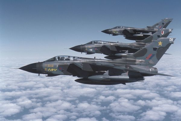 Panavia Tornado GR1 on exercise Western Vortex