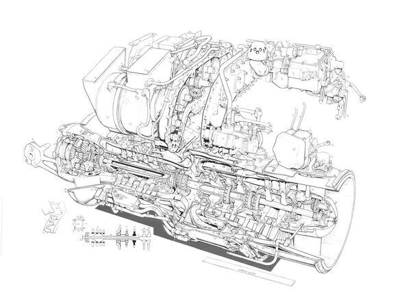 Rolls-Royce BS 360 - gem Cutaway Drawing