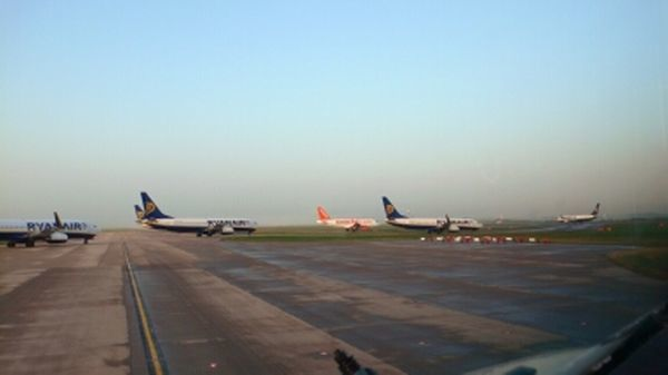 Easyjet surrounded at Stansted
