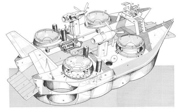 Sedam No300 Naviplane Cutaway Drawing