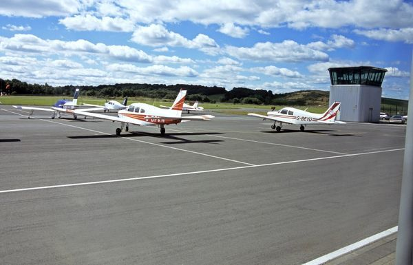 Sheffield City Airport with GA aircraft