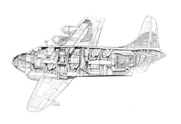 Short S45 Solent Cutaway Drawing