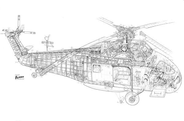 Westland Wessex AS1 Cutaway Drawing